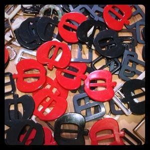 60 vintage belt buckles repurposing lot